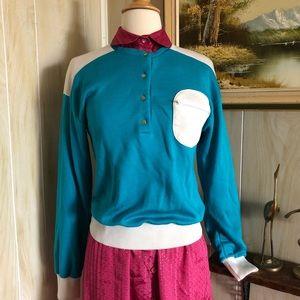 Color-block Vintage Sweatshirt